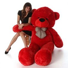 Toyhub Soft 3 Feet Teddy Bear With Neck Bow (91 Cm,Red) for Rs. 510
