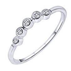 Peora Bubbly CZ 925 Sterling Silver Rhodium Ring for Women for Rs. 300