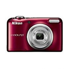 Buy Nikon Coolpix A10 16.1MP Point and Shoot Camera with 5X Optical Zoom (Red) with Memory Card and Camera Case from Amazon