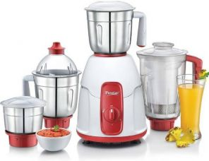 Buy Prestige ELEGANT 750 W Juicer Mixer Grinder  (Red, 4 Jars) from Flipkart