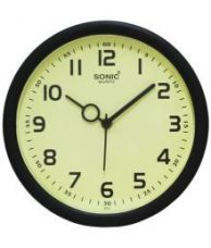 Flat 38% off on Sonic Circular Analog Wall Clock 19 cms - Pack of 1