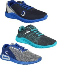 Buy Bersache COMBO(B)-742-747-750 Running Shoes For Men  (Multicolor) for Rs. 899