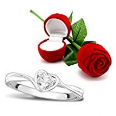 Buy Peora Valentine's Day Gift Hamper of Sterling Silver Ring With Red Rose Gift Box for Girlfriend/Gift For Her/Gift For Valentine/Gift For Girl from Amazon