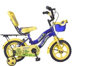 Buy Hero Flash 12 T Single Speed Road Cycle(Yellow, Blue) for Rs. 2,702