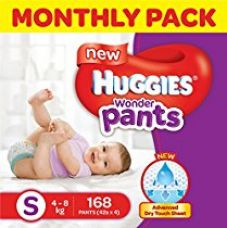 Buy Huggies Wonder Pants Small Size Diapers Monthly Pack (168 Count) from Amazon