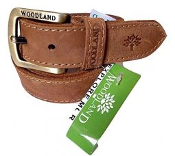 Buy Woodland Men's Leather Belt(34) from Amazon