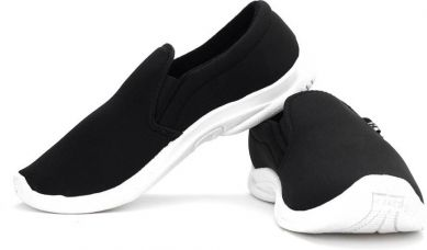 Flat 25% off on Bata Mushy Men Canvas Loafers For Men  (Black)