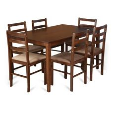 Buy Magix Six Seater Dining Set in Dark Walnut Finish for Rs. 19,900
