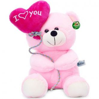 Buy Tickles I Love You Balloon Heart Teddy, Pink (18 cm) from Amazon