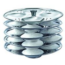 Buy Prestige Stainless Steel Idli Plates, 5 Litres, Silver from Amazon