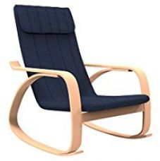 Buy Forzza Norrie Rocking Chair (Matt Finish, Navy Blue) from Amazon