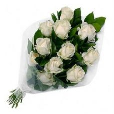 Fresh Flower Bouquet (Bunch Of 10 Roses) - FFBU0008SW for Rs. 349