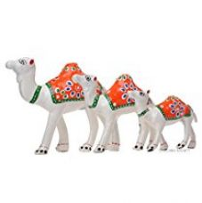 DreamKraft Handcrafted Set of 3 Showpiece Camel for Decoration and Gift Purpose (12X12CM,10X 10CM,8X 8CM) for Rs. 229