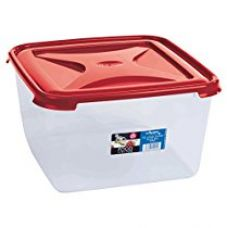 Wham Cuisine Large Square Food Storage Plastic Box Container, 15 Litre, Red for Rs. 699