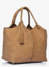 Buy Dorothy Perkins Tan Unstructured Hobo Bag from Jabong
