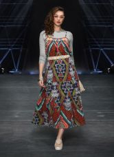 Flat 45% off on Label Ritu Kumar Multicoloured Printed Maxi Dress