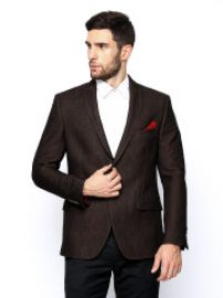 Men Fitted Fit Blazer