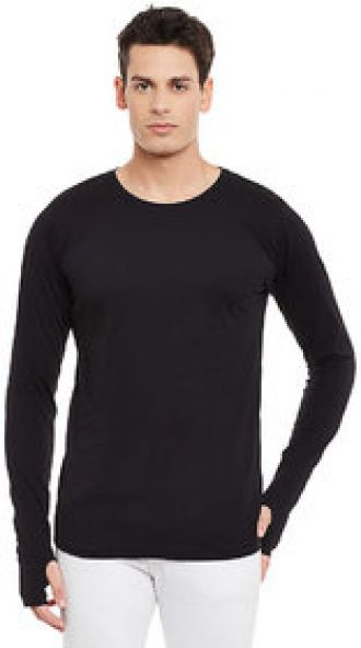 Get 70% off on Rigo Men's Black Round Neck T-Shirt