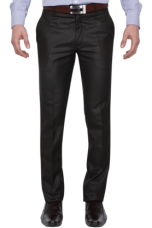 Flat 63% off on X VETTORIO FRATINI Mens Flat Front Slim Fit Solid Formal Trousers
