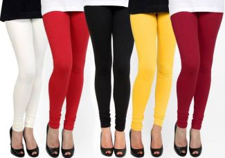 Buy NGT Churidar  Legging  (White, Red, Black, Yellow, Maroon, Solid) from Flipkart