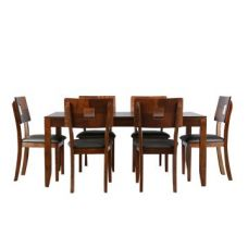 Lobito Six Seater Dining Set in Walnut Finish for Rs. 49,900