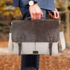 Home Story Grey Canvas Office Bag for Rs. 1259