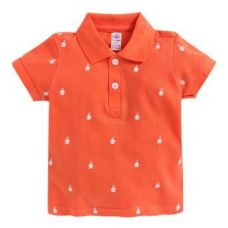 Printed Orange Polo T-Shirt for Rs. 195