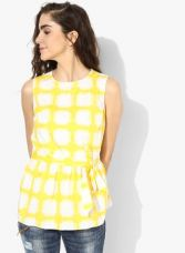 Dorothy Perkins Yellow Checked Top for Rs. 1395