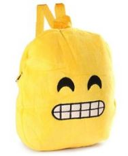 Buy Soft Toy Bag Emoji Design Yellow Black - 12 inches from FirstCry