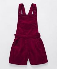 Buy Babyhug Corduroy Dungaree With Pocket - Maroon for Rs. 349