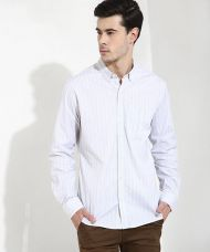 Flat 70% off on Yepme Jordan Striped Shirt - White