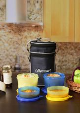 Buy Oliveware LB36 4 Containers Lunch Box(1430 ml) from Flipkart