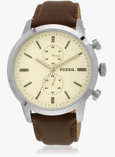 Get 45% off on Townsman Fs4865i Brown/Cream Chronograph Watch