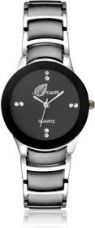 Flat 81% off on Arum Stylish Black Cat Watch For Women