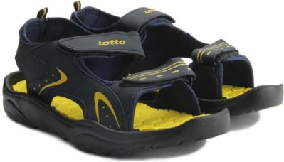 Buy Lotto Men Blue/Yellow Sports Sandals for Rs. 359
