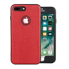 Buy Parallel Universe Apple iPhone 8 Plus/iPhone 7 Plus Back Cover Case 2 in 1 Full Front and Back Leather Case Complete 360 Degree Protection - Red from Amazon