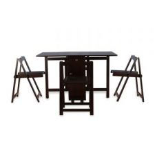 Flat 60% off on Compact Four Seater Foldable Dining Set in Wenge Finish