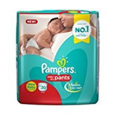 Pampers New Born Size Diaper Pants (20 Count) for Rs. 160