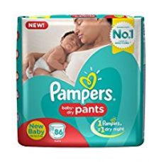 Pampers New Born Diaper Pants, X-Small (86 Pieces) for Rs. 949