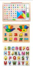 Buy Akrobo Play And Learn Alphabet and Numeric 3pc Combo Board Game for Rs. 675