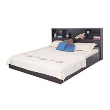 Flat 75% off on Forzza Damien Queen Size Bed (Matt Finish, Wenge)