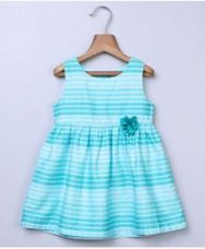 Buy Beebay Sleeveless Dress Floral Motif - Turquoise from FirstCry