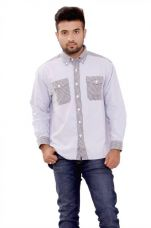 Flat 73% off on SML Originals Men's Solid Casual Grey Shirt
