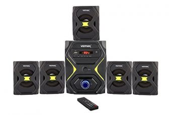 Vemax Lush 5.1 Multimedia Speaker Home Theater System With FM, USB, AUX & MMC (Black & Yellow) for Rs. 2,090