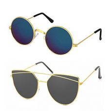 Buy Elligator set of Two Unisex Sunglass from Amazon