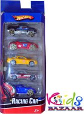 Get 62% off on Kids Bazaar Hot Wheel Racing Car Set of 5  (Multicolor)