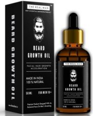THE REAL MAN Beard Growth Oil. Men's Mustache & Beard Growth Oil,100% Natural & Organic, Conditioner & Softener for Men,50ml. Beard Care With Best Beard Oil - For Best Beard Look. (50ml) Hair Oil  (50 ml) for Rs. 500