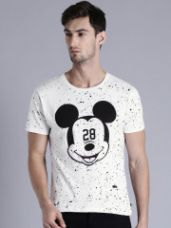 Flat 40% off on Printed Round Neck T-Shirt