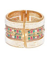 Buy Brass Gold-Plated Handcrafted Cuff Bracelet for Rs. 600