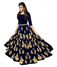 Buy Lovisa Fashion Women's Velvet Lehenga Choli(ballover_Blue_Free Size) from Amazon